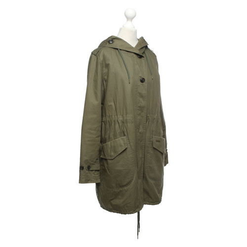 save off 554fa 0fad8 Woolrich Jacke/Mantel aus Baumwolle in Oliv - Second Hand ...