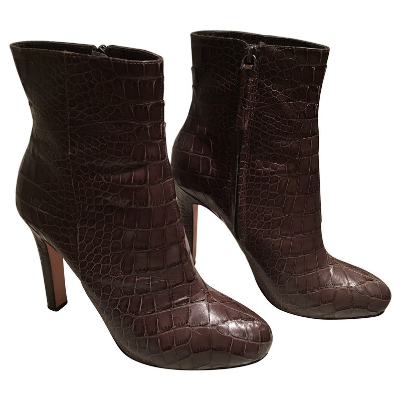 Jean-Michel Cazabat Booties with heels in crocodile leather
