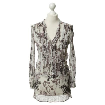 Luisa Cerano Silk tunic with patterns