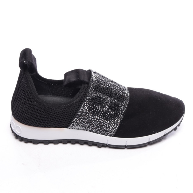 Jimmy Choo Trainers Leather in Black