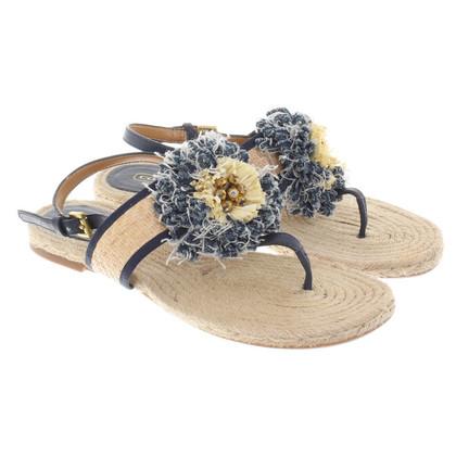 Coach Sandals of sisal / bast