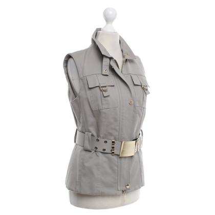 Elisabetta Franchi Vest in grijs-beige