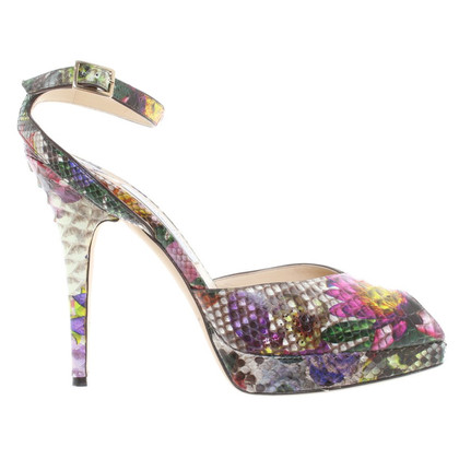 Jimmy Choo Sandals made of Python leather