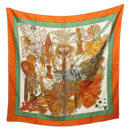 Hermès Silk scarf with motif print