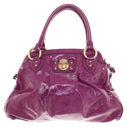 Marc Jacobs Lakleer handtas in purple