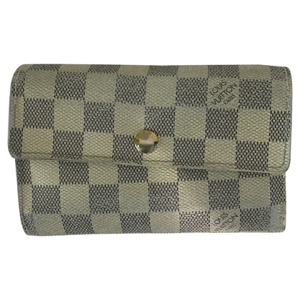 Louis Vuitton Portemonnaie aus Damier Azur Canvas
