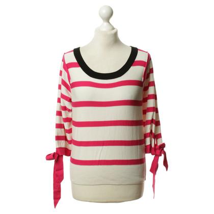 Sonia Rykiel for H&M Feinstrick-Pullover in Pink/Weiß