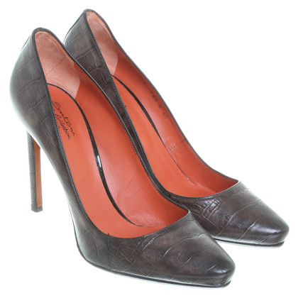 Santoni Pumps in reptile finish