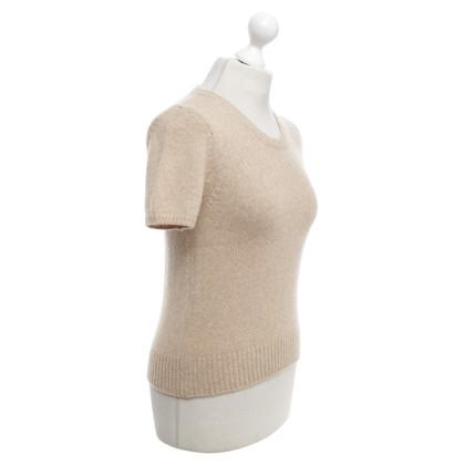 René Lezard Short-sleeved pullover in beige