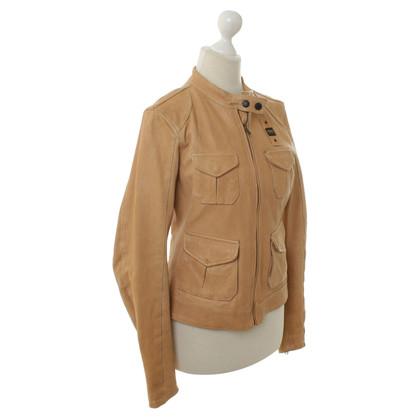 True Religion Leather jacket in beige