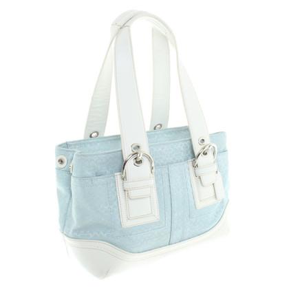 Coach Handtasche in Blau/Weiß