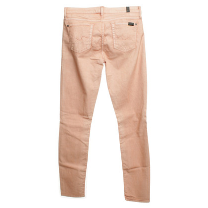 7 For All Mankind Jeans en corail rouge