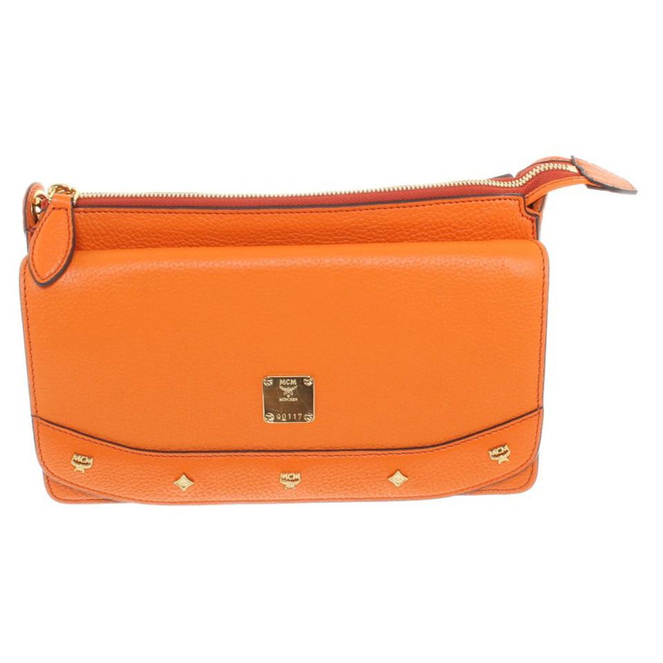 MCM Shoulder bag in neon orange