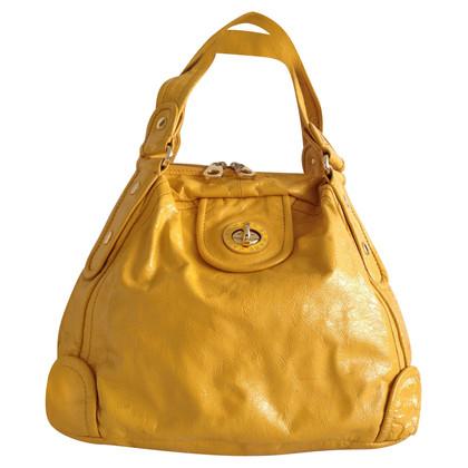 Marc Jacobs Sac en cuir verni jaune