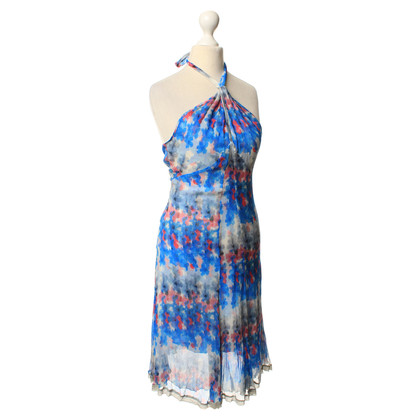 Costume National Silk dress with a floral pattern