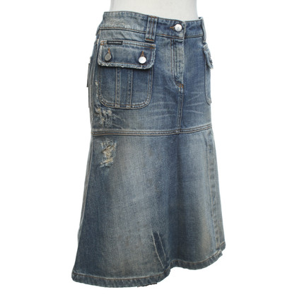 Dolce & Gabbana Denim skirt in used look