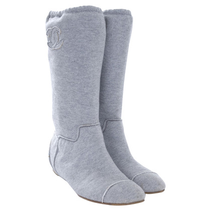 Chanel Boots in Grau