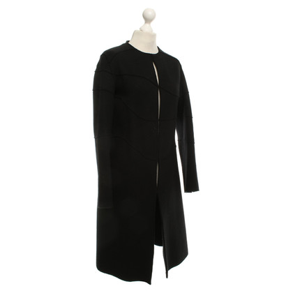 Agnona Cashmere coat in black