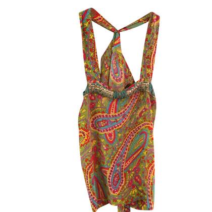 Parosh Silk top in multicolor