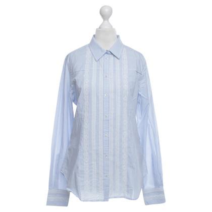 Napapijri Gestreepte blouse met kant