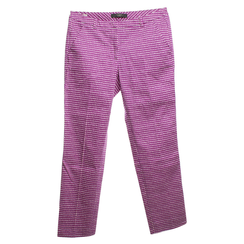 Max Mara trousers with check pattern