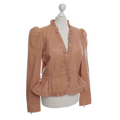 Manoush Lederjacke in Apricot