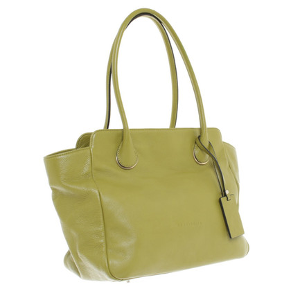 Coccinelle Leather hand bag in green