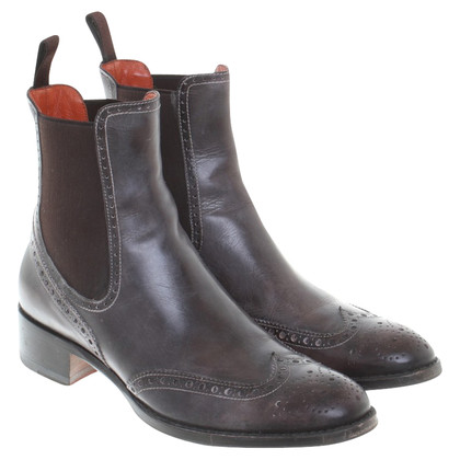 Santoni Ankle Boots in Gray