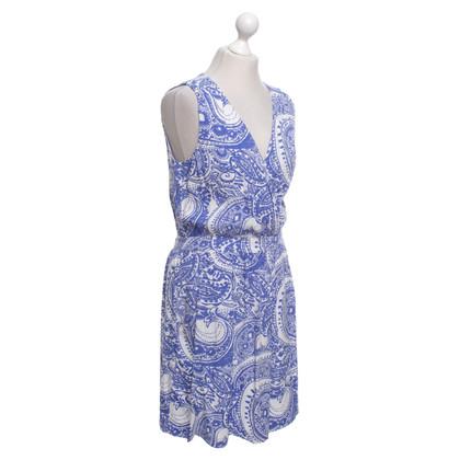 Reiss Dress with pattern in blue