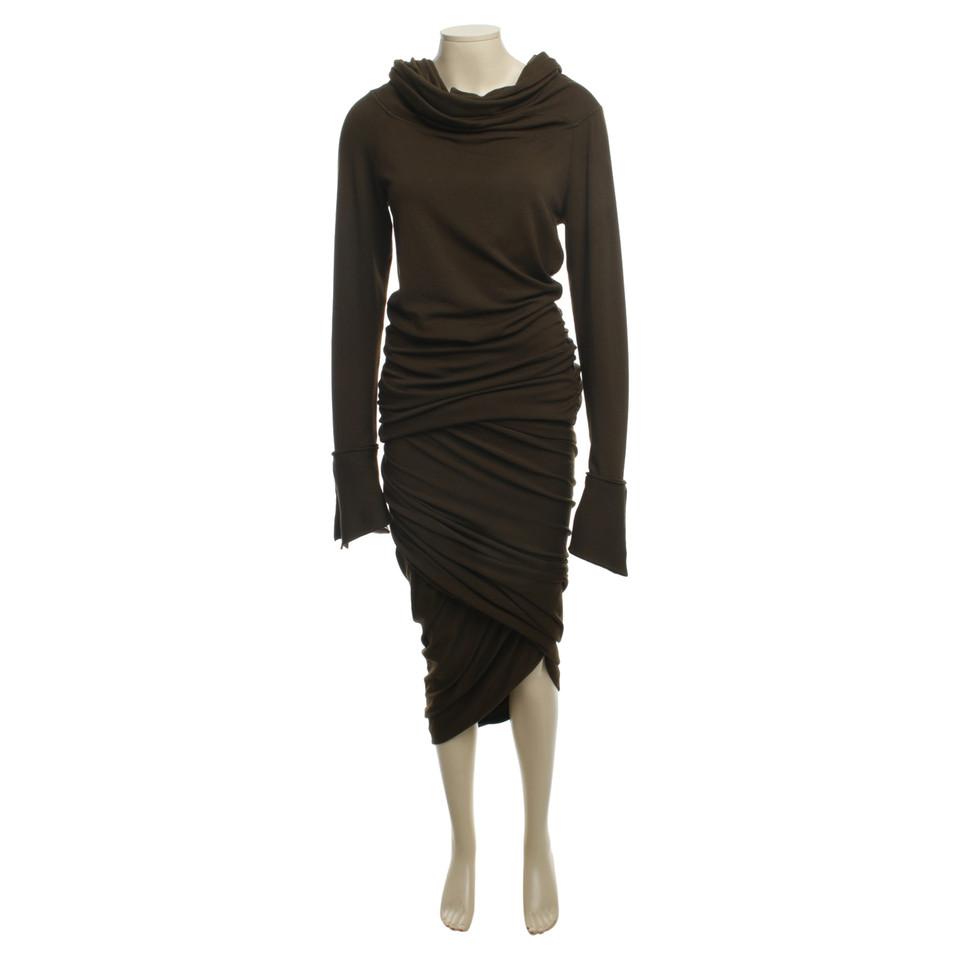 donna karan zweiteiler in dunklem oliv second hand donna. Black Bedroom Furniture Sets. Home Design Ideas