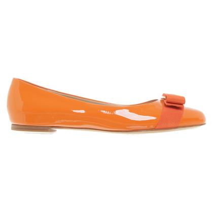 Salvatore Ferragamo Patent leather ballerinas