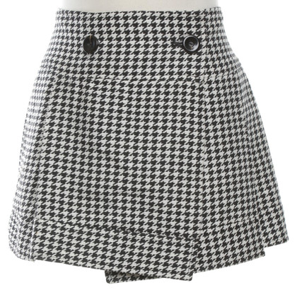 Red Valentino Wrap skirt with houndstooth pattern