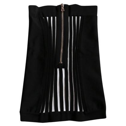 Balmain Gonna a maglia in nero / bianco