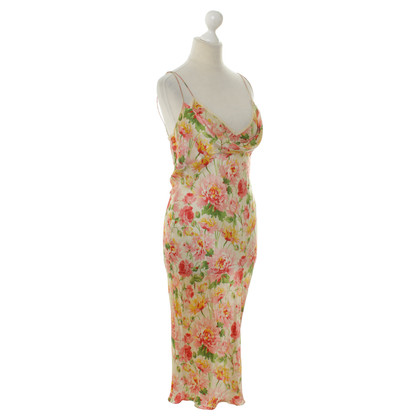 Christian Dior Silk dress with a floral pattern