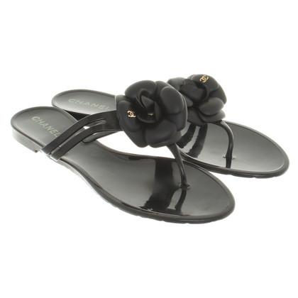 Chanel Flip Flops in zwart