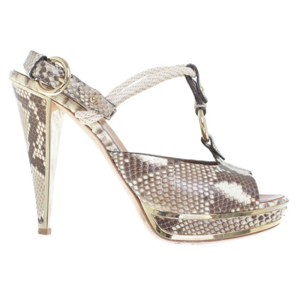 Bally Sandals made of python leather