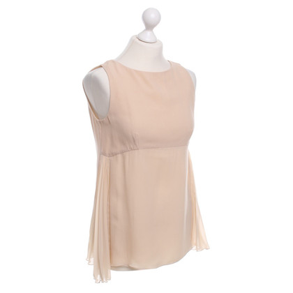 Patrizia Pepe Silk Top in nude