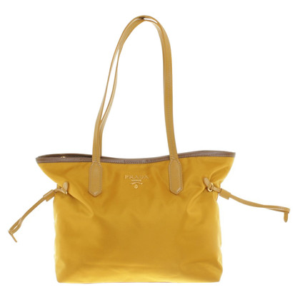 Prada Shopper in mustard yellow