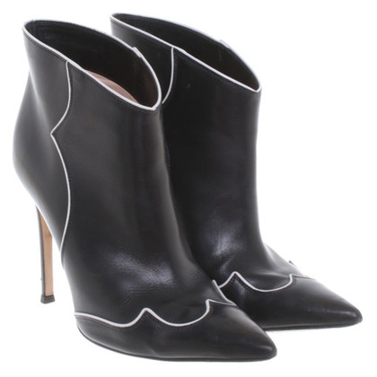 Gianvito Rossi Ankle boots in black/white