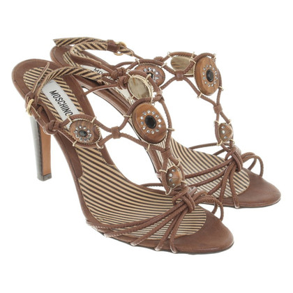 Moschino Sandals in Brown