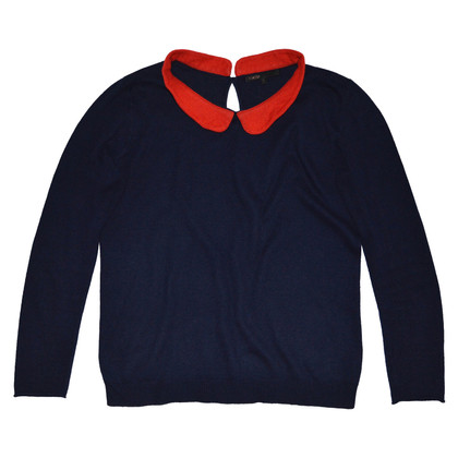 Maje Sweater with red collar