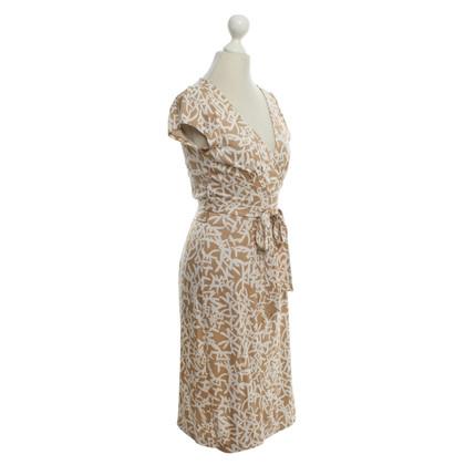 Diane von Furstenberg Seidenkleid in Bicolor