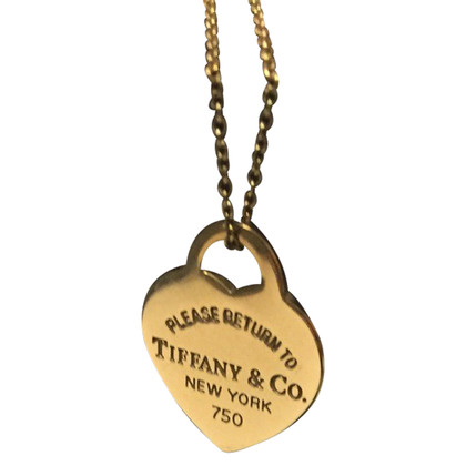 Tiffany & Co. Gold chain with heart pendant