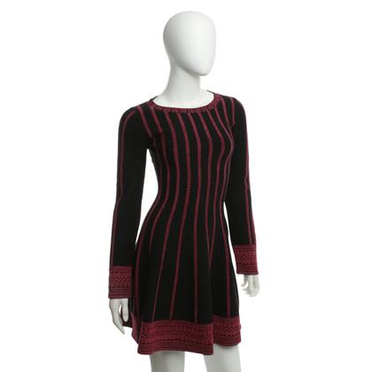 Maje Stretch jurk met patroon