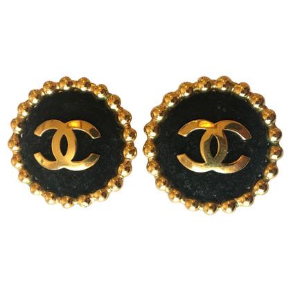 Chanel Large CHANEL clips with black velvet