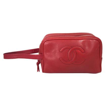 Chanel Kulturtasche aus Kaviarleder