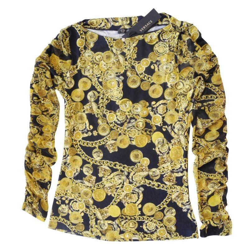versace chemise avec cha ne et m daillon impression acheter versace chemise avec cha ne et. Black Bedroom Furniture Sets. Home Design Ideas