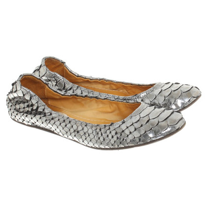 Lanvin Ballerina's Python Leather