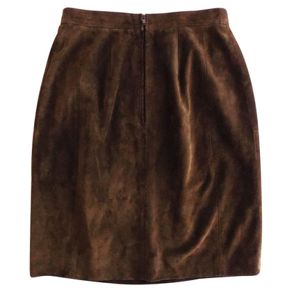 Guy Laroche Suede Jupe Brown