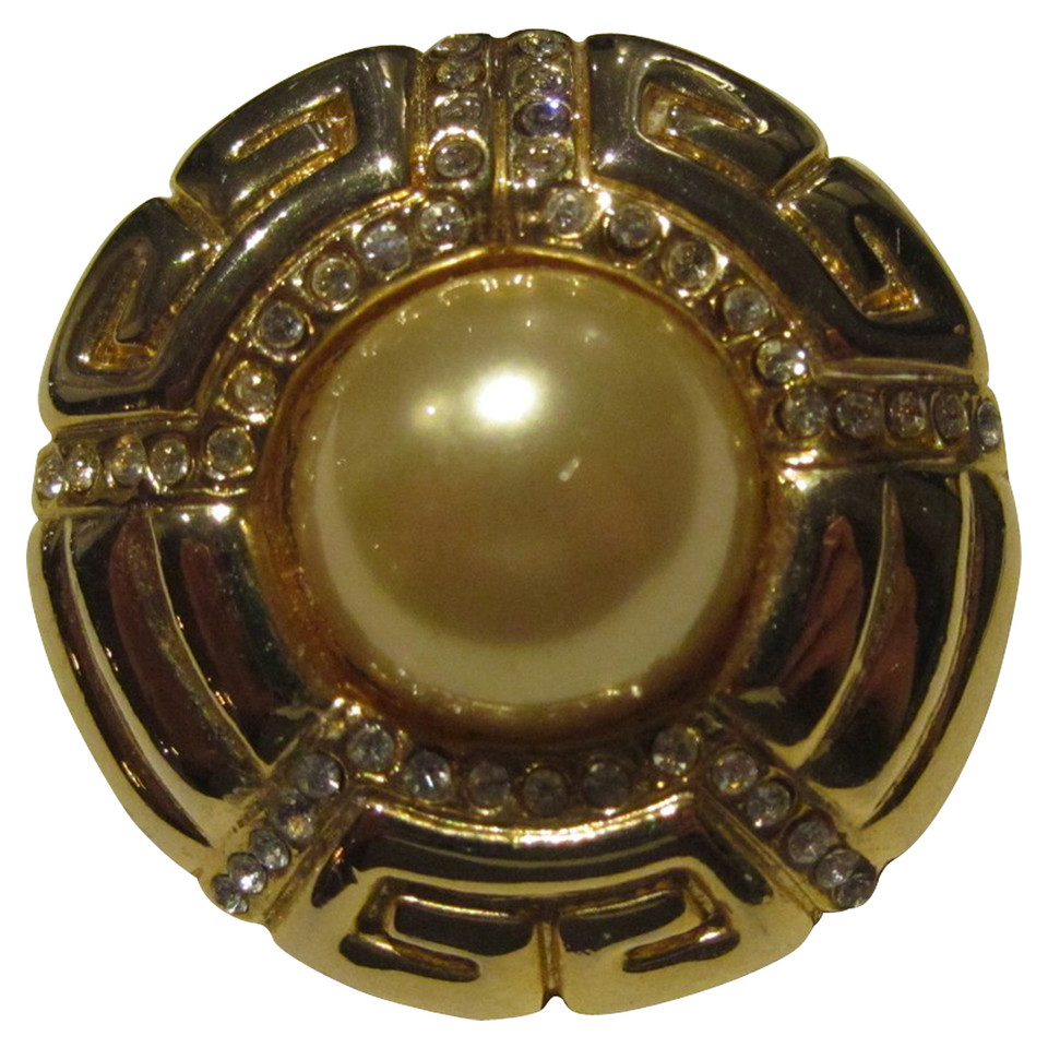 Givenchy Brooch with rhinestones / pearls